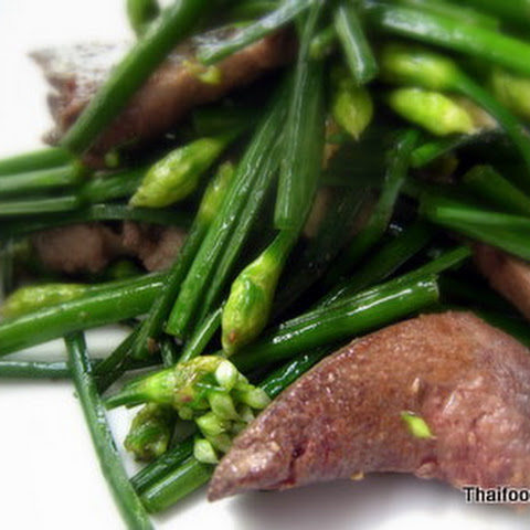 Pork Liver Fried With Flowering Chives