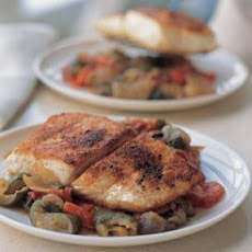 Spicy Halibut with Ratatouille