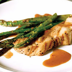 Cognac Grilled Striped Sea Bass