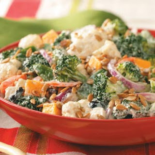 Broccoli Cauliflower Salad Taste Of Home Recipes