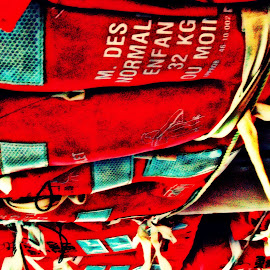 by Justin Dart - Artistic Objects Clothing & Accessories ( red, hdr, white, summer, life jacket )
