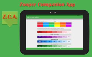 Screenshot of Zooper Companion App (donate)