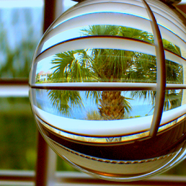 Through the Shutters by Elfie Back - Artistic Objects Glass (  )