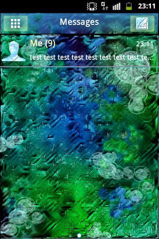 雨の後にGO SMS PRO Theme のテーマをGO