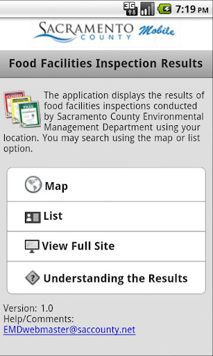 Sacramento Co Food Inspections