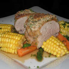 Apricot Pork With Herb Crust