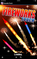 Screenshot of Fireworks Touch Free
