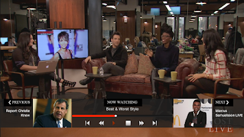 Screenshot of HuffPost Live for Google TV