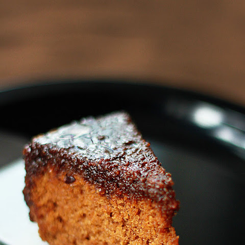 Coconut Sugar Cake with A Caramel Sauce (Refined Sugar Free, Vegan, Whole Wheat & Soy Free)