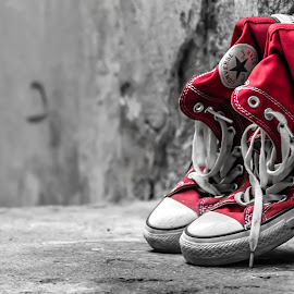 Shoes by Angelo Pereira - Artistic Objects Clothing & Accessories ( selective color, pwc )