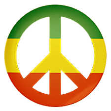 Peace rasta Storm 3D Wallpaper