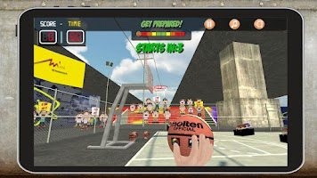 Screenshot of Super Basket 3D Tegra Pro