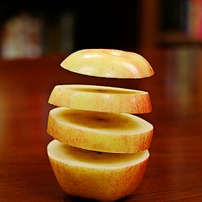 Layered Apple by Jerry Ehlers - Digital Art Things ( floating slices, altered, apple, slices )