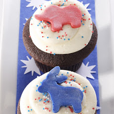 Chocolate and Vanilla Election Day Cupcakes