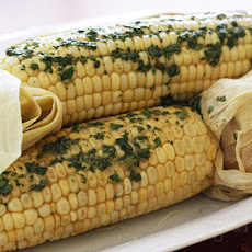 Roasted Corn with Cilantro Butter