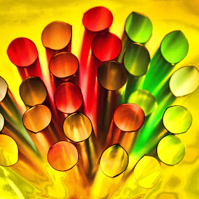 Straws by Carole Pallier  - Artistic Objects Other Objects ( abstract, plastic, bright, still life, straws, colours,  )