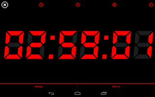 Screenshot of Night Display(Alarm Clock)