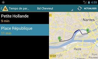 Screenshot of Info Trafic Nantes