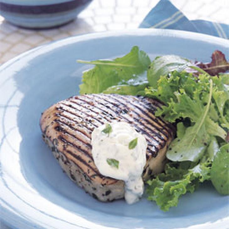 Grilled Tuna with Herbed Aïoli