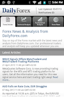 Screenshot of Daily Forex News & Analysis