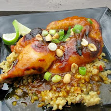 Cornish Game Hens With Curry Apricot Glaze
