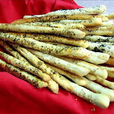 Garlic, Seasoned Salt, Sesame. Poppy, or Cheese Breadsticks