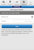 Screenshot of Comerica Mobile Banking®