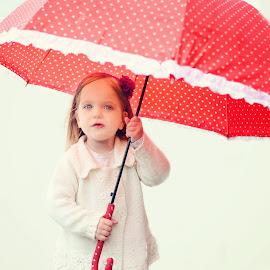 My red Umbrella by Lucia STA - Babies & Children Child Portraits