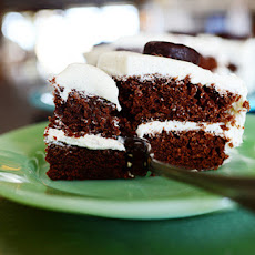 Peppermint Patty Sheet Cake