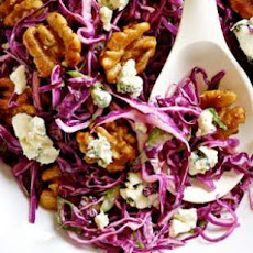Red Cabbage Salad with Blue Cheese & Maple-Glazed Walnuts