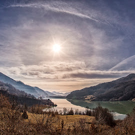 The Lake in the Morning by Ariseanu Genu - Landscapes Mountains & Hills
