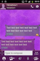 Screenshot of GO SMS Theme Purple Violet