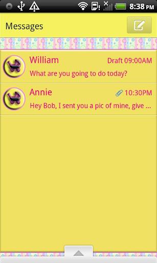 GO SMS THEME It's A Girl 1