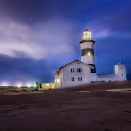 Port Elizabeth Lighthouse by Peter Primich - Landscapes Beaches ( sunset, lighthouse, beach )