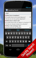 Screenshot of SpeakEasy French ~ Phrasebook