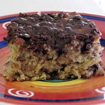 Oaty Banana Chocolate Chip Cake