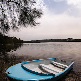 Little Blue Boat by Yael Hylton - Transportation Boats (  )