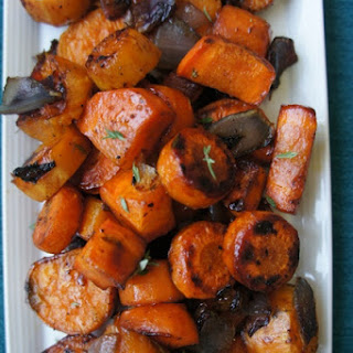 Sweet Potatoes and Carrots with Apple Cider and Thyme