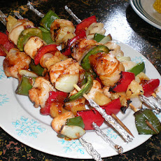 Grilled Rainbow Chicken Kabobs