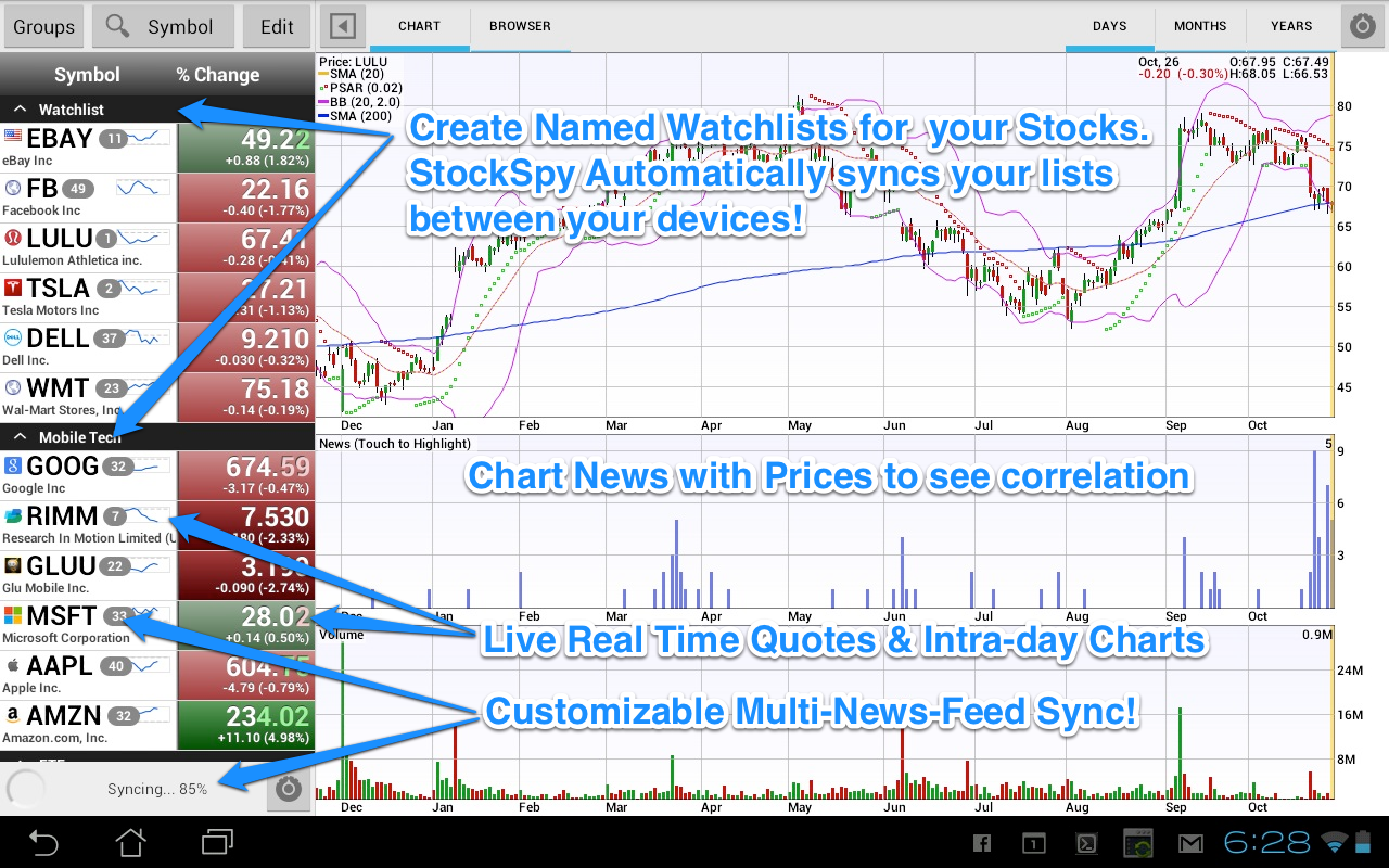Stocks: Realtime Quotes Charts Screenshot 13
