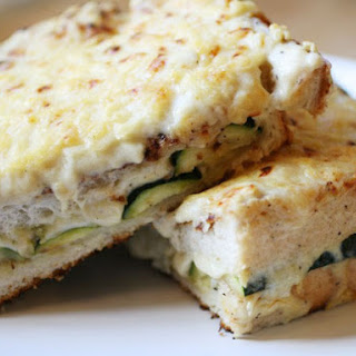 Vegetarian Grilled Zucchini Croque Mademoiselle