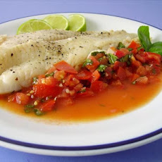 Halibut With Fresh Tomato Sauce