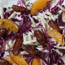 Red Cabbage, Parsnip, Orange And Date Salad