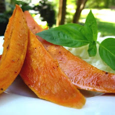 Oven-Roasted Spicy-Sweet Sweet Potatoes