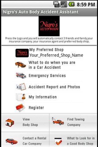 Nigro's Accident Assistant App
