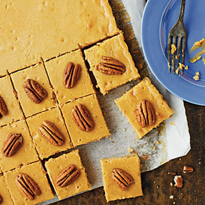 Pecan-Pumpkin Cheesecake Bars