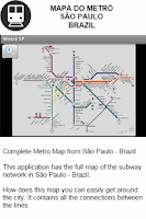 Screenshot of Metro Map - Sao Paulo - Brazil