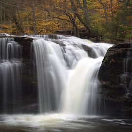 Upper Twin Falls by Isaac Golding - Landscapes Waterscapes ( waterfalls, falls, state game lands, pennsylvania, sgl 13 )