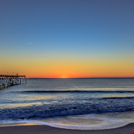 Sunrise at the Beach by Carol Plummer - Landscapes Beaches