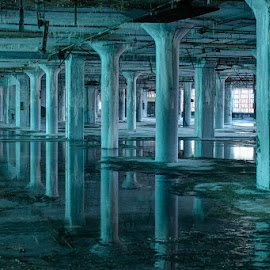 Blue Room by Michael Holser - Buildings & Architecture Decaying & Abandoned ( blue room, detroit, fisher body )